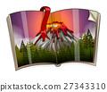Book with volcano scene 27343310