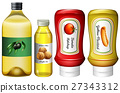 Different types of sauces and oil 27343312