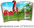 Farm scene on the book 27343323