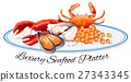 Luxury seafood on the plate 27343345