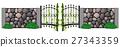 Metal door and stone wall 27343359