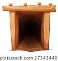 Mine entrance on white background 27343440