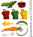 Different types of rotten vegetables 27343445