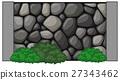 Wall made of rocks 27343462