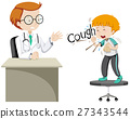 Doctor giving treatment to sick boy 27343544