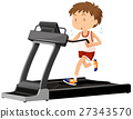 Man running on treadmill 27343570