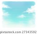 sky, light clouds, watercolour 27343592
