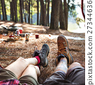 camping forest legs 27344636