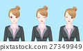 cartoon business woman smile happily 27349949