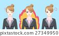 cartoon business woman feel angry 27349950