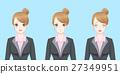 cartoon business woman cry 27349951