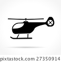 helicopter icon on white background 27350914
