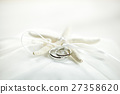 wedding rings with the starfish on the cushion 27358620