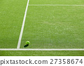 soft focus of tennis ball on tennis grass court go 27358674