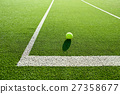 soft focus of tennis ball on tennis grass court go 27358677