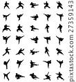 Black karate silhouettes 27359143