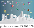 delivery service with  hot air balloon winter  27360676