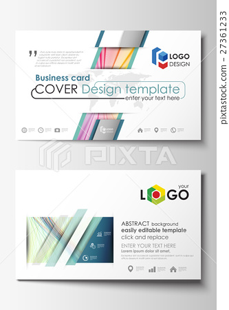 Business Card Templates Cover Template Easy Stock Illustration - Easy business card template