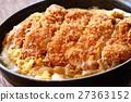 猪排盖饭 猪排饭 裹面包屑猪肉饭 27363152