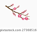 Plum branches and flowers 27368516