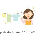 엄마 세탁 일러스트 27368521