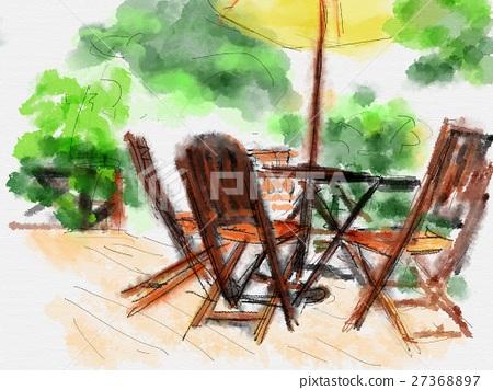 Terrace illustration 27368897
