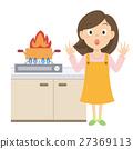 火 矢量 厨房 27369113