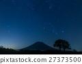 Ezo Mt. Fuji Yotei的夜空_北海道新雪谷充满了星空 27373500