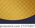 金叶 打钩 棋盘状图案 27375807