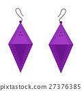 Earrings beautiful accessory isolated vector. 27376385