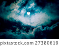 The moon on the dark sky 27380619