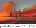 sci-fi contruction in the desert 27381227