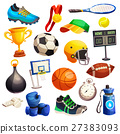 Sport Inventory Decorative Icons Set 27383093