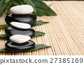 Spa concept with zen stones and leaves 27385169
