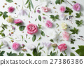 elegant background of pink roses 27386386