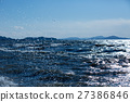 lake biwa, splash, winter 27386846