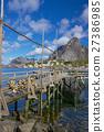 Wooden pier in fjord 27386985