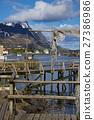 Wooden pier in Reine 27386986