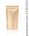 blank packaging recycle kraft paper pouch 27387025