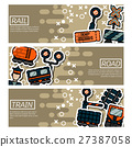 Set of Horizontal Banners about railroads 27387058