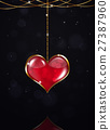 Golden Heart on Dark Background 27387960