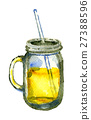 watercolor sketch of lemonade on white background 27388596