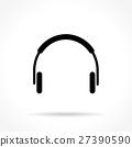 headphone thin line icon 27390590
