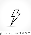 flash thin line icon 27390605