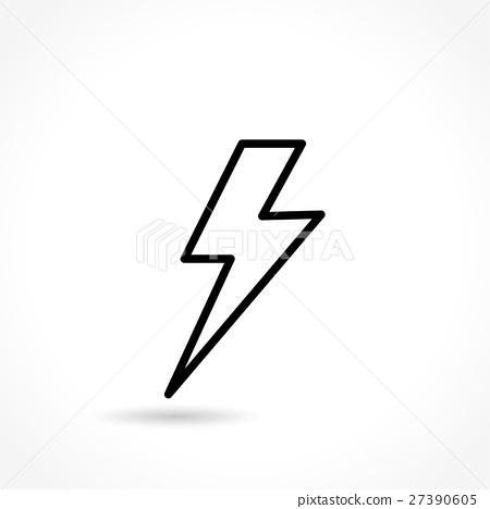 flash thin line icon 27390605
