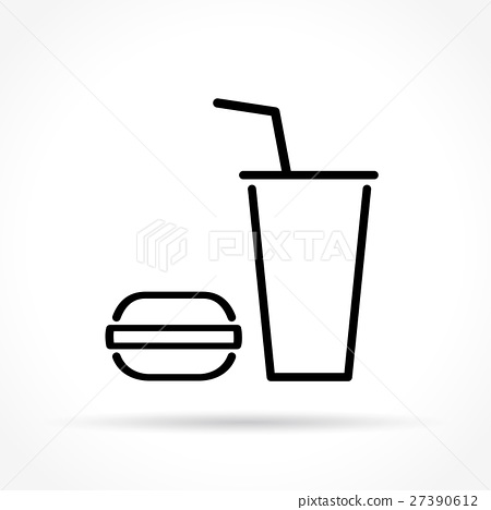 fast food thin line icon 27390612
