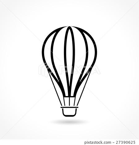 hot air balloon thin line icon 27390625