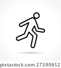 run thin line icon 27390652