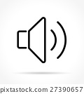 sound thin line icon 27390657