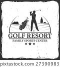 Golf resort concept. 27390983